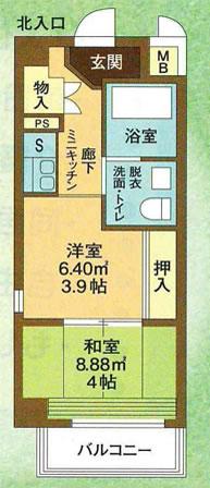 Bタイプ(南向き)/30.34㎡ 間取り図